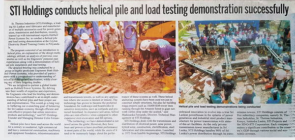 sri-lanka-helical-piles-newspaper